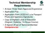technical membership requirements4
