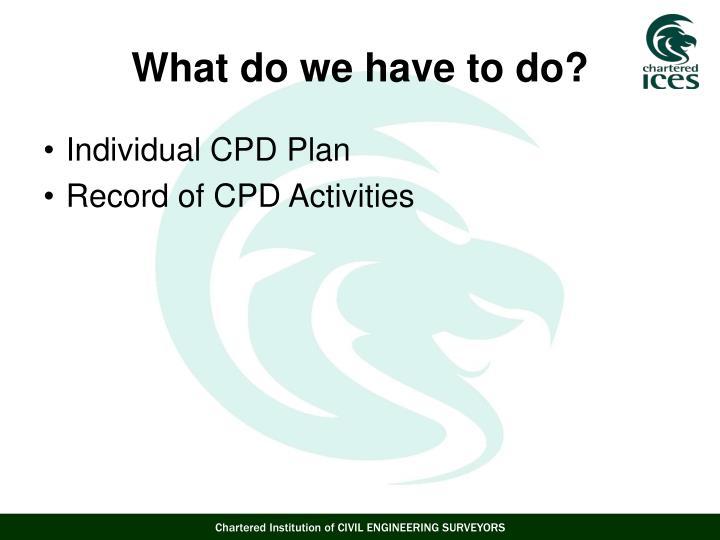 Individual CPD Plan