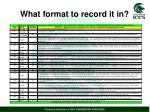 what format to record it in