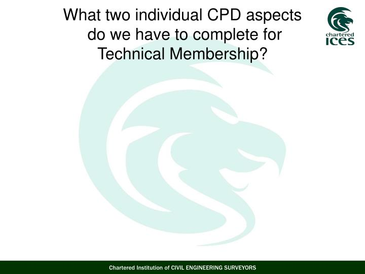 What two individual CPD aspects
