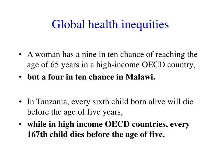 Global health inequities