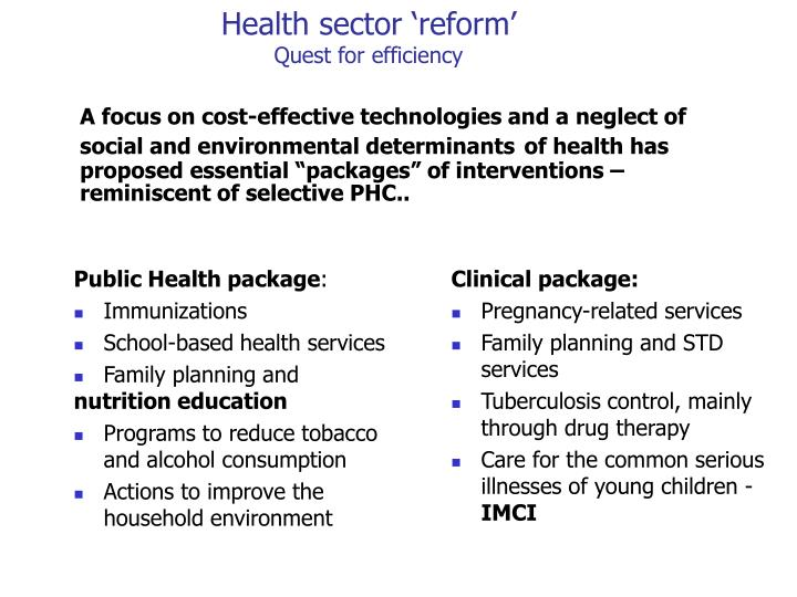 Public Health package