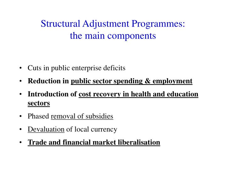 Structural Adjustment Programmes: