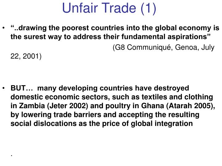Unfair Trade (1)