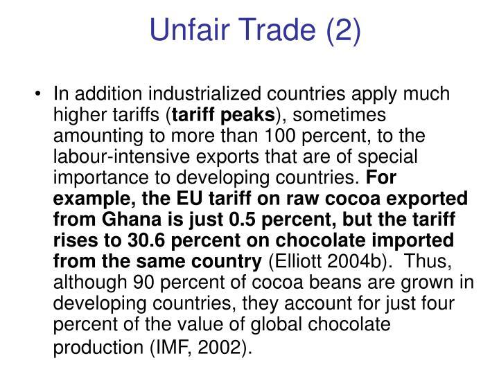 Unfair Trade (2)
