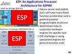 esp an applications processor architecture for aspire