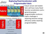 replacing fixed accelerators with programmable fabric