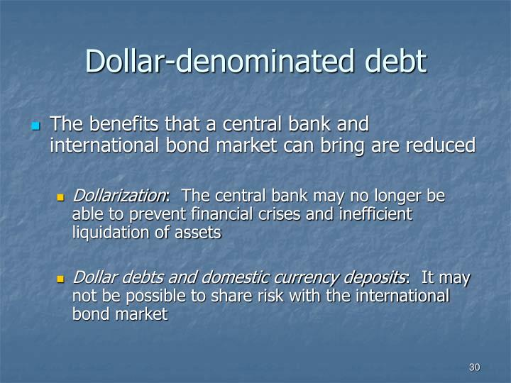 Dollar-denominated debt