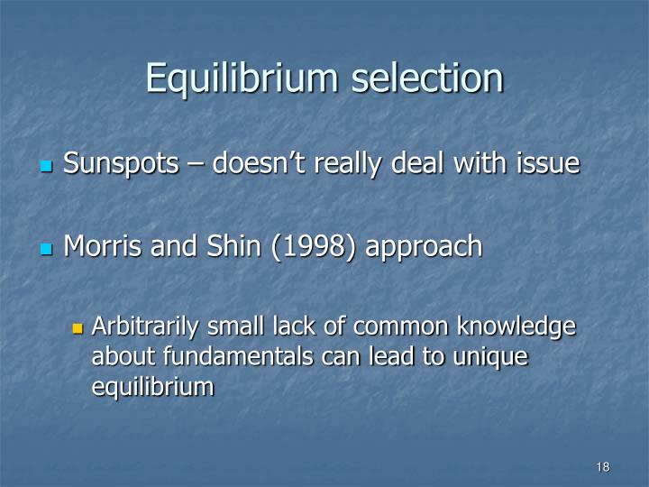Equilibrium selection
