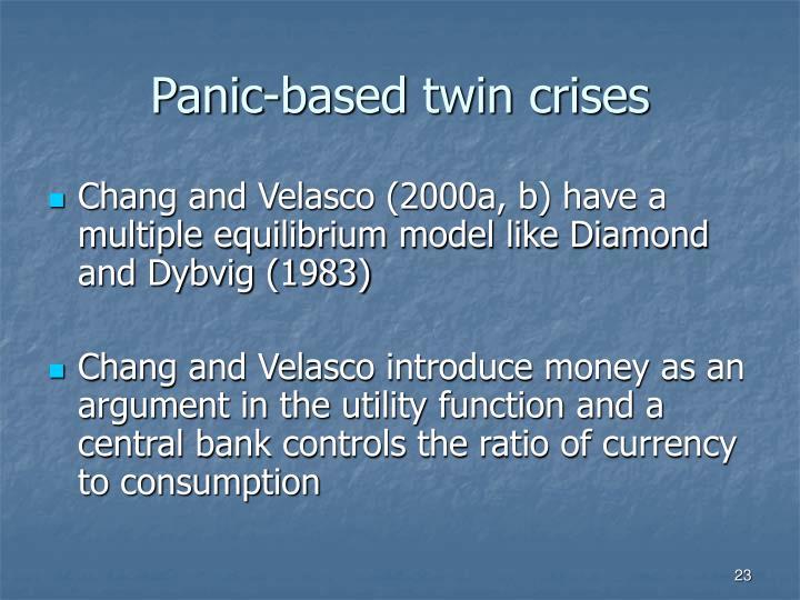 Panic-based twin crises