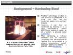 background hardening steel