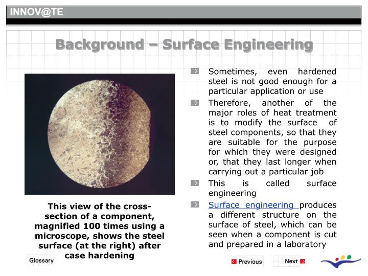 Background – Surface Engineering