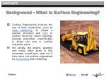 background what is surface engineering