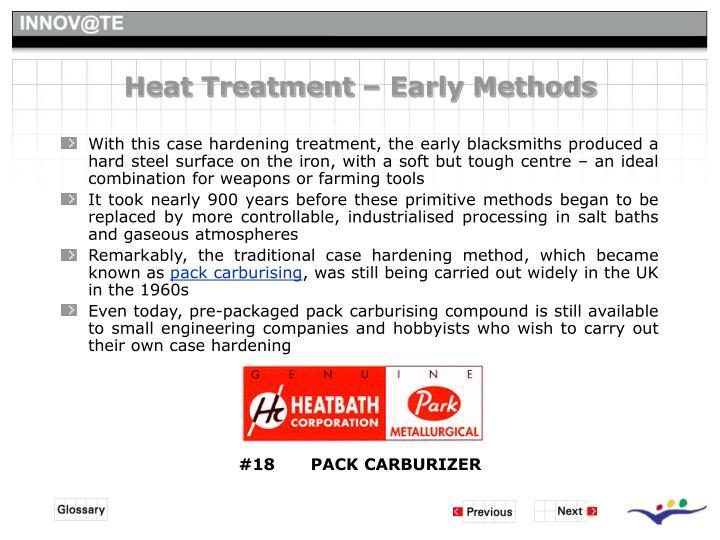 Heat Treatment – Early Methods