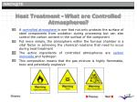 heat treatment what are controlled atmospheres