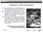 section 2 heat treatment