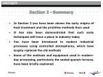 section 2 summary