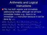 arithmetic and logical instructions
