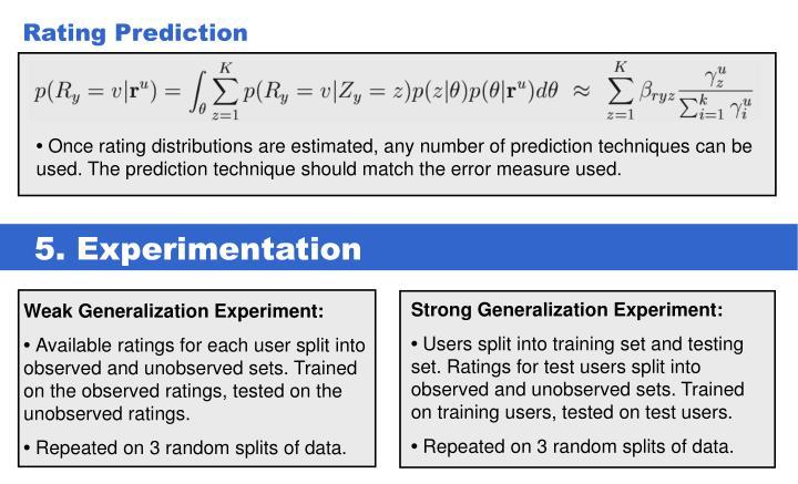 Rating Prediction