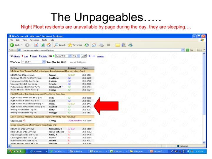 The Unpageables…..