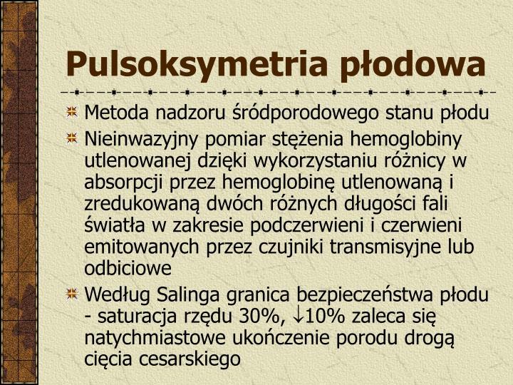 Pulsoksymetria płodowa