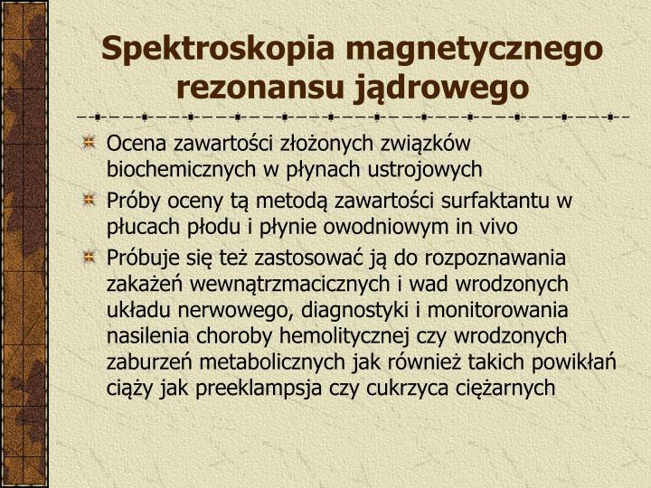 Spektroskopia magnetycznego rezonansu jądrowego