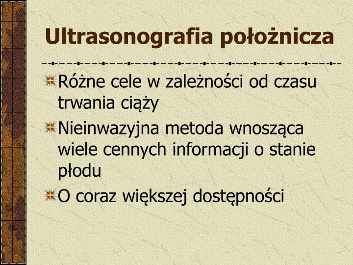 Ultrasonografia położnicza