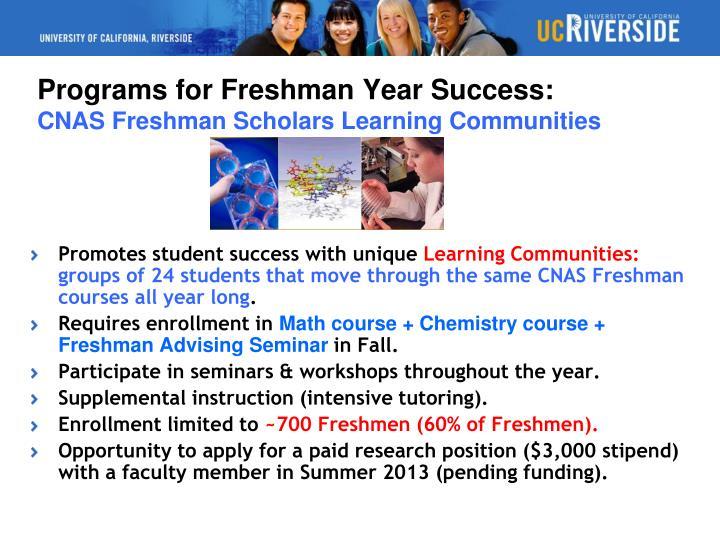 Promotes student success with unique