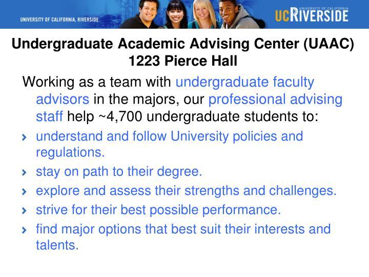 Undergraduate Academic Advising Center (UAAC)
