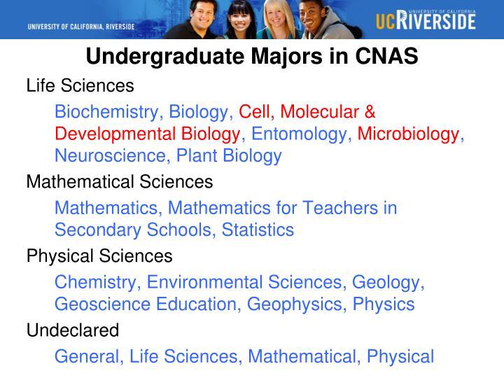 Undergraduate Majors in CNAS
