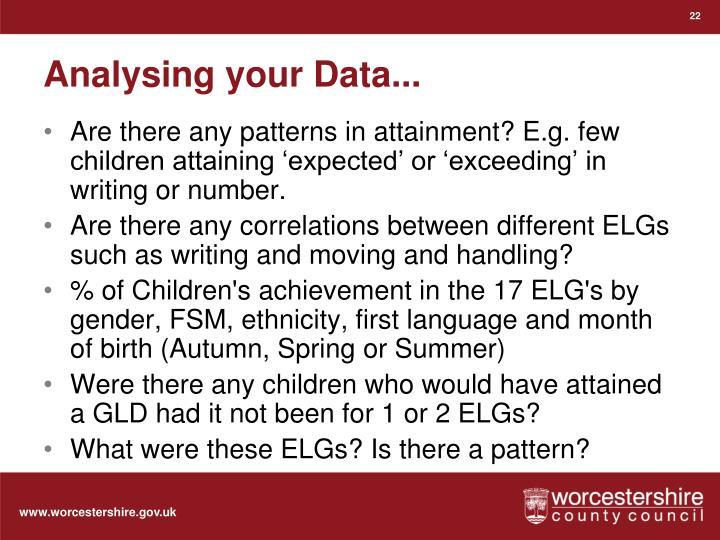 Analysing your Data...