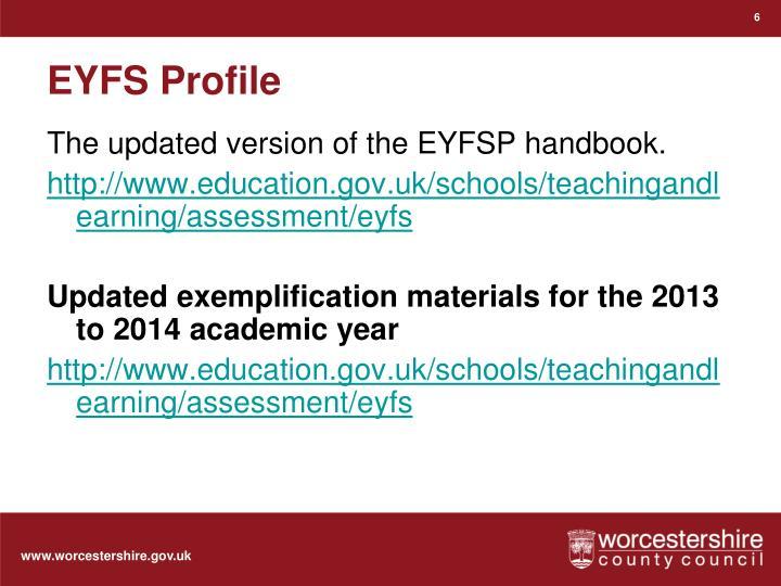 EYFS Profile