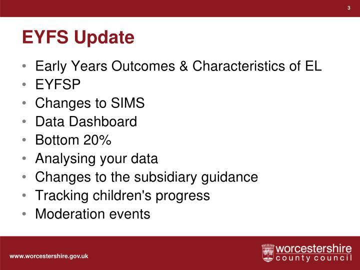 EYFS Update