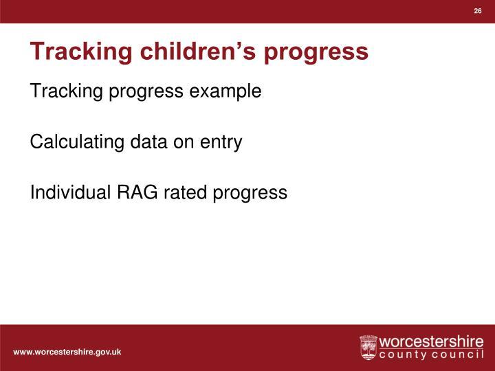 Tracking children's progress