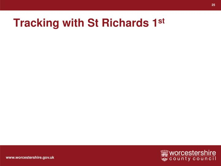 Tracking with St Richards 1
