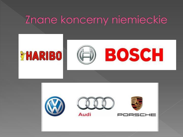 Znane koncerny niemieckie