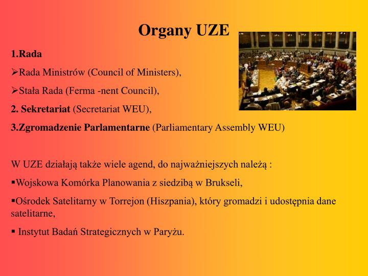 Organy UZE