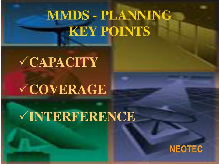 MMDS - PLANNING