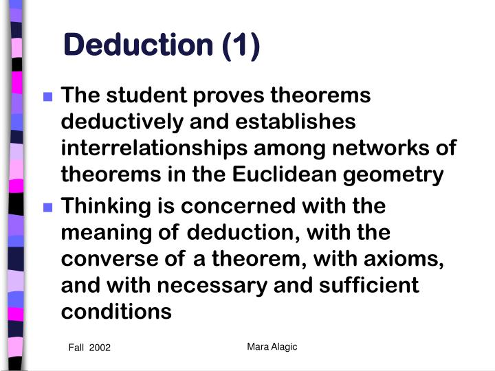Deduction (1)