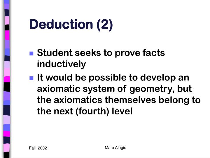Deduction (2)