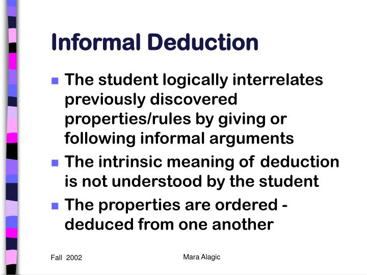 Informal Deduction