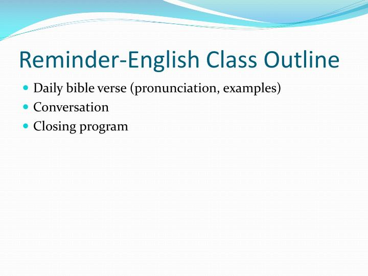 Reminder-English