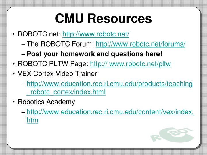 CMU Resources