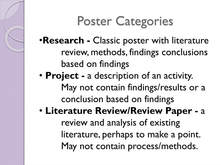 Poster Categories