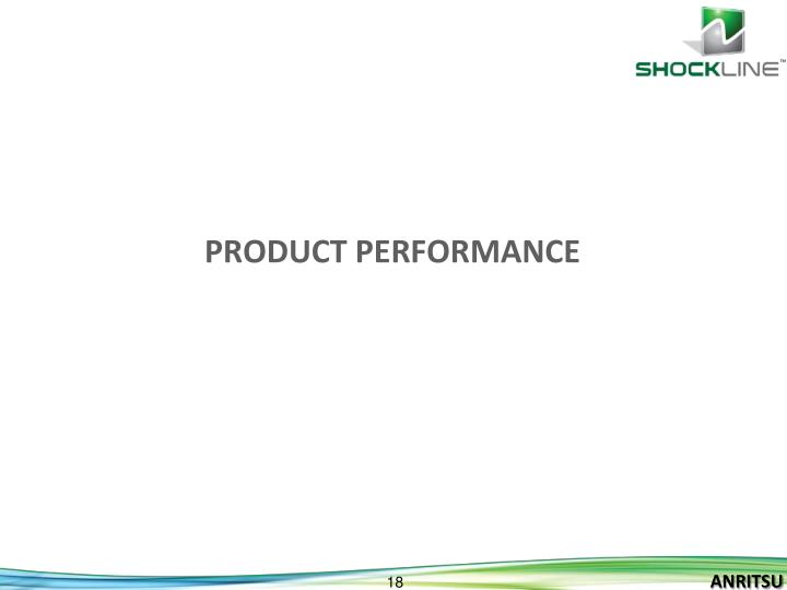 Product performance