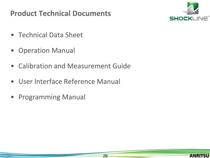 Product Technical Documents