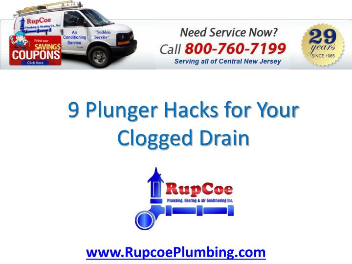 9 plunger hacks for your clogged drain