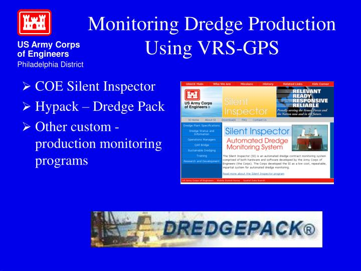 Monitoring Dredge Production Using VRS-GPS