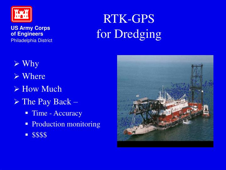 Rtk gps for dredging