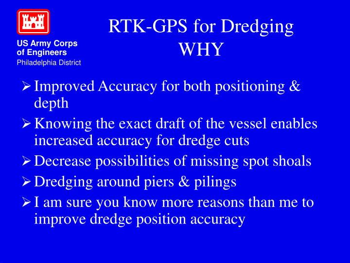 Rtk gps for dredging why